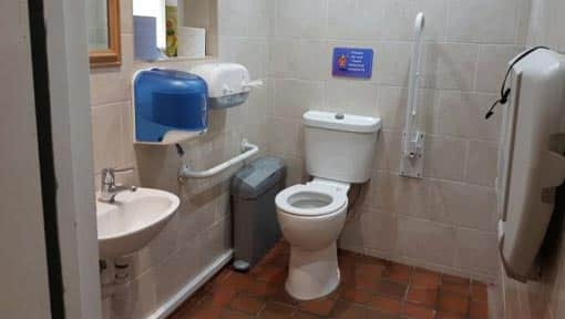 Accessible toilet at reception
