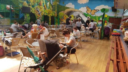 Ewetopia cafe seating area