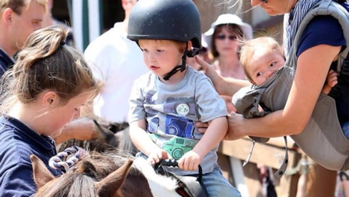Getting Ready for a Pony Ride