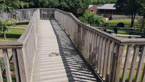 Rampage Rollercoaster bridge