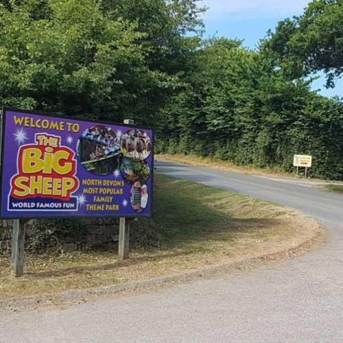 The Big Sheep bus stop