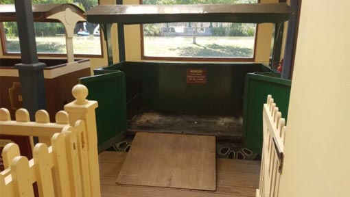 Wheelchair carriage on train