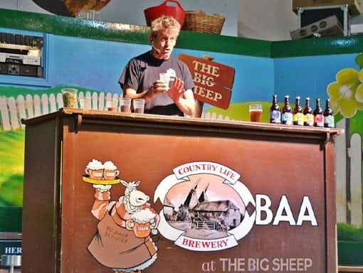 The Big Sheep beer show live on stage